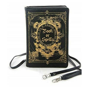 Book of Spells Purse Handbag Gothic Goth Witch Zip